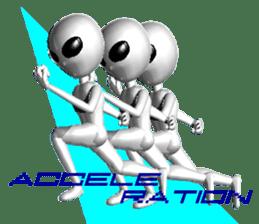 Alien Grey 3D (English) sticker #6438849