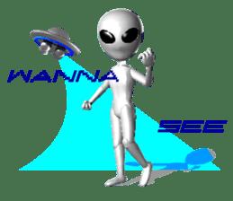 Alien Grey 3D (English) sticker #6438850