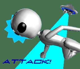 Alien Grey 3D (English) sticker #6438851