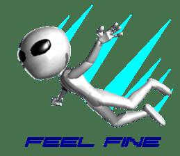 Alien Grey 3D (English) sticker #6438852