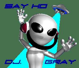 Alien Grey 3D (English) sticker #6438853