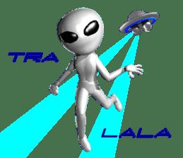 Alien Grey 3D (English) sticker #6438854