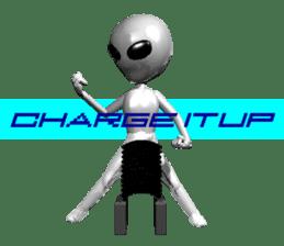 Alien Grey 3D (English) sticker #6438855
