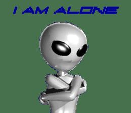 Alien Grey 3D (English) sticker #6438862