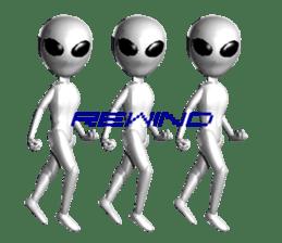 Alien Grey 3D (English) sticker #6438863