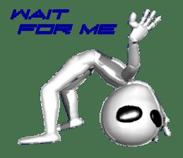 Alien Grey 3D (English) sticker #6438865