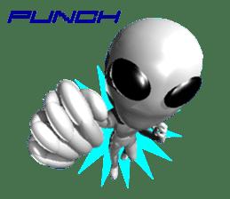 Alien Grey 3D (English) sticker #6438868