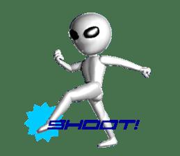 Alien Grey 3D (English) sticker #6438870
