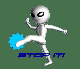 Alien Grey 3D (English) sticker #6438871