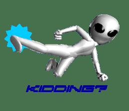 Alien Grey 3D (English) sticker #6438874