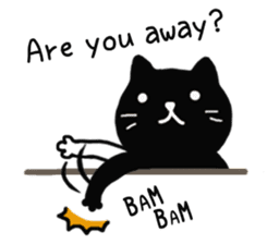 Daily lives of black cat (Eng ver.) sticker #6439004