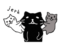 Daily lives of black cat (Eng ver.) sticker #6439010