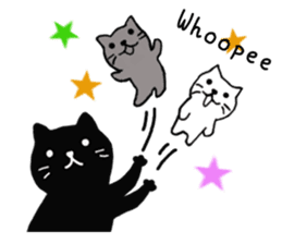 Daily lives of black cat (Eng ver.) sticker #6439011