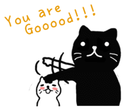 Daily lives of black cat (Eng ver.) sticker #6439014