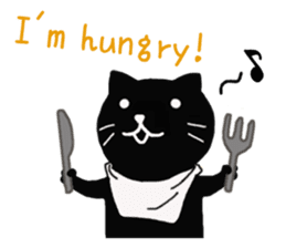 Daily lives of black cat (Eng ver.) sticker #6439021
