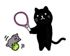 Daily lives of black cat (Eng ver.) sticker #6439024