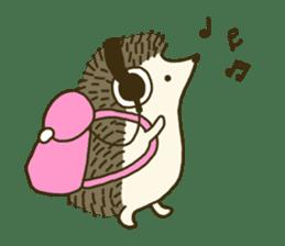Hedgehog Diary sticker #6447512