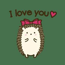 Hedgehog Diary sticker #6447514