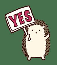 Hedgehog Diary sticker #6447520