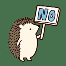 Hedgehog Diary sticker #6447521