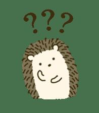 Hedgehog Diary sticker #6447523