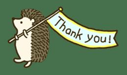 Hedgehog Diary sticker #6447525