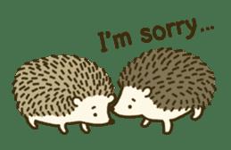 Hedgehog Diary sticker #6447530