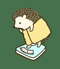 Hedgehog Diary sticker #6447534