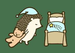 Hedgehog Diary sticker #6447536
