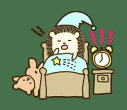 Hedgehog Diary sticker #6447537