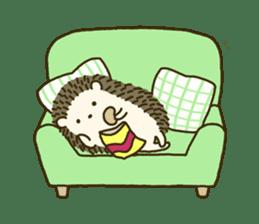 Hedgehog Diary sticker #6447539