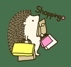 Hedgehog Diary sticker #6447540