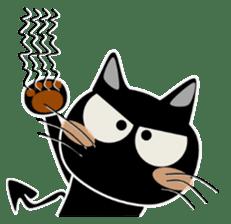 Black cat Happy sticker #6450554