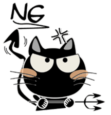 Black cat Happy sticker #6450556