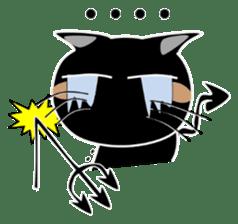 Black cat Happy sticker #6450568