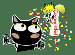 Black cat Happy sticker #6450570