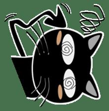 Black cat Happy sticker #6450571
