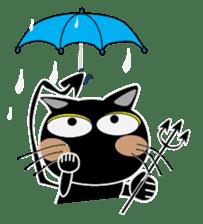 Black cat Happy sticker #6450574