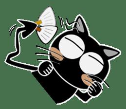 Black cat Happy sticker #6450579