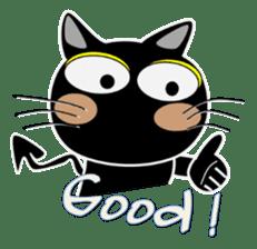 Black cat Happy sticker #6450582