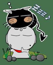 Black cat Happy sticker #6450586