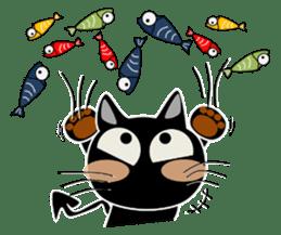 Black cat Happy sticker #6450590