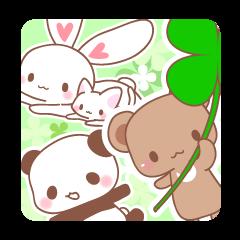Bear, rabbit, panda, cat 2