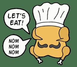 Chicken Cool Guy sticker #6467558
