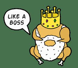 Chicken Cool Guy sticker #6467562