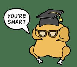 Chicken Cool Guy sticker #6467565