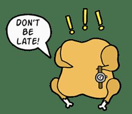 Chicken Cool Guy sticker #6467566