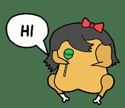 Chicken Cool Guy sticker #6467571