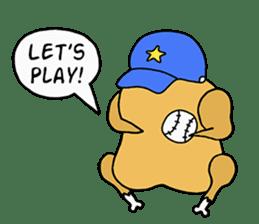 Chicken Cool Guy sticker #6467573