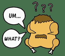Chicken Cool Guy sticker #6467581